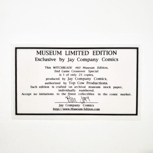 Witchblade #60 PGX 9.8 NM/M Museum Edition COA