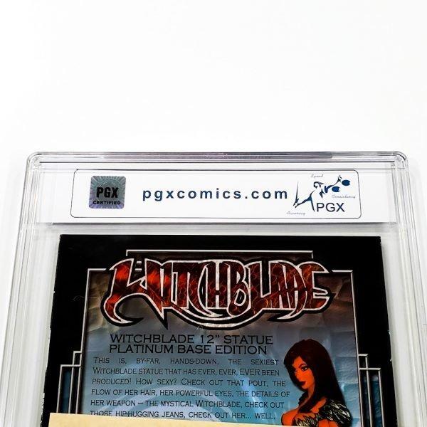 Witchblade: Demon #1 PGX 10 Gem Mint Dynamic Forces Gold Foil Variant Back Label