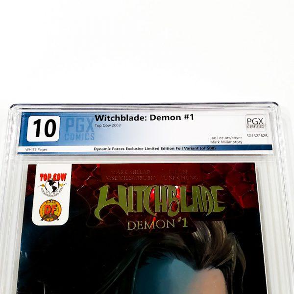 Witchblade: Demon #1 PGX 10 Gem Mint Dynamic Forces Gold Foil Variant Front Label