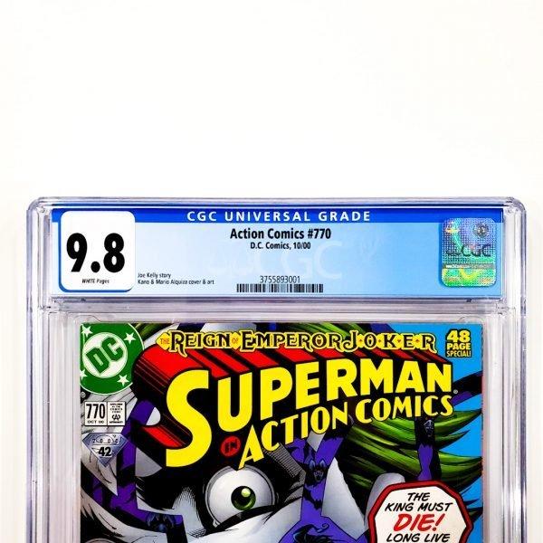 Action Comics #770 CGC 9.8 NM/M Front Label