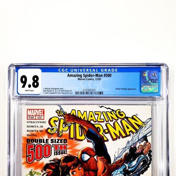 Amazing Spider-Man #500 CGC 9.8 NM/M Front Label
