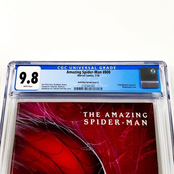 Amazing Spider-Man #800 CGC 9.8 NM/M Dell'Otto Variant B Front Label