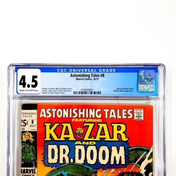 Astonishing Tales #8 CGC 4.5 VG+ Front Label