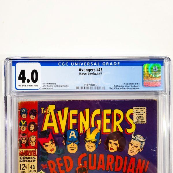 Avengers #43 CGC 4.0 VG Front Label