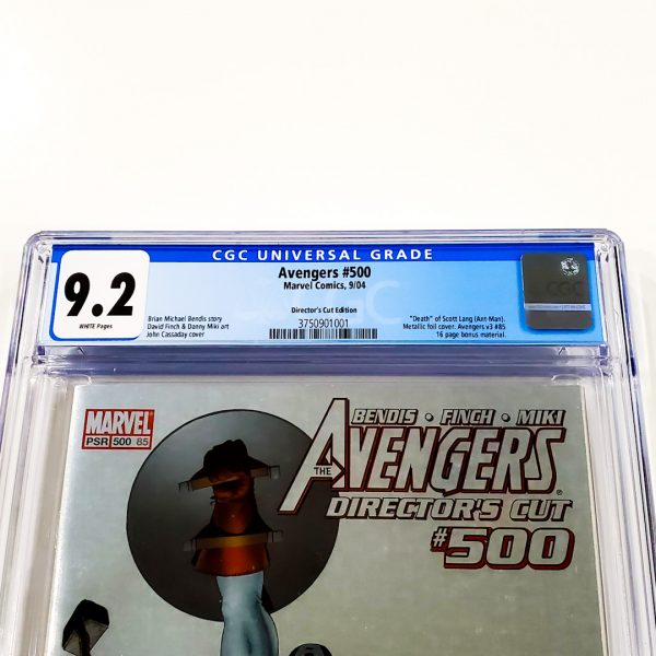 Avengers #500 CGC 9.2 NM- Director's Cut Front Label