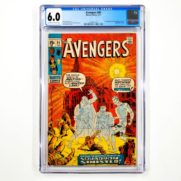 Avengers #85 CGC 6.0 FN Front