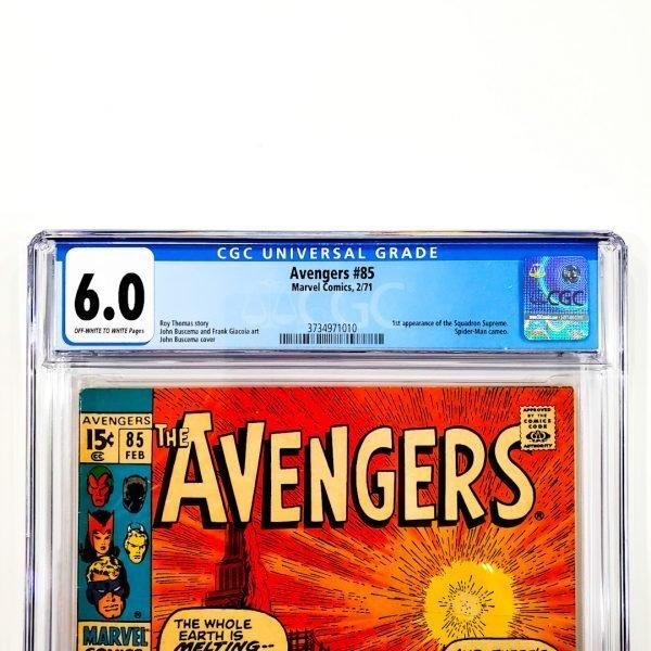 Avengers #85 CGC 6.0 FN Front Label