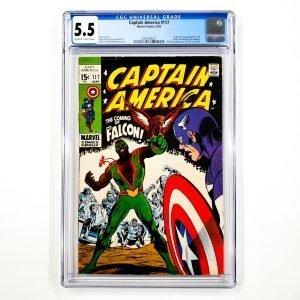 Captain America #117 CGC 5.5 FN- Front