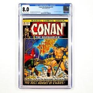 Conan The Barbarian #15 CGC 8.0 VF Front