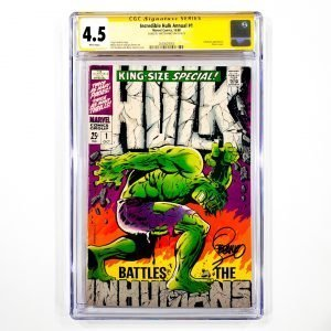 Incredible Hulk Annual #1 CGC SS 4.5 VG+ Front
