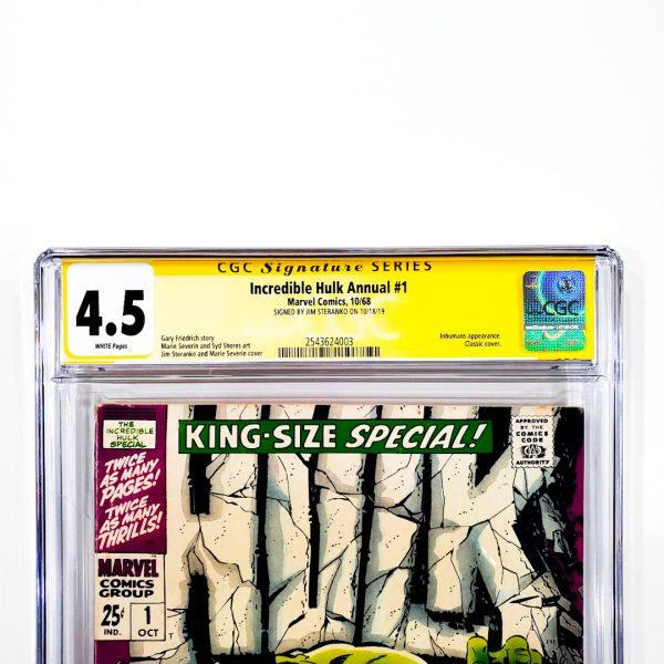 Incredible Hulk Annual #1 CGC SS 4.5 VG+ Front Label