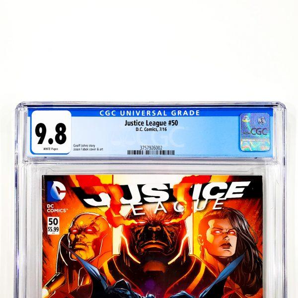 Justice League (2011) #50 CGC 9.8 NM/M Front Label
