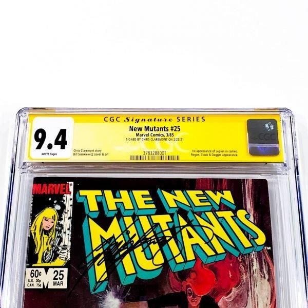 New Mutants #25 CGC SS 9.4 NM Front Label