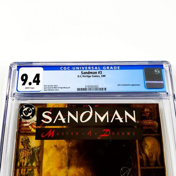 Sandman #3 CGC 9.4 NM Front Label