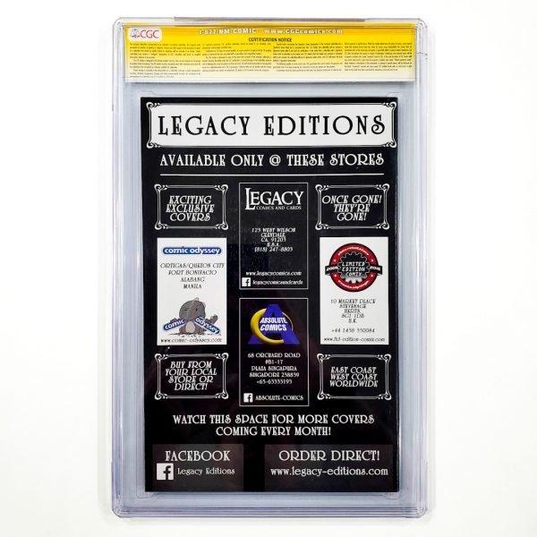 Secret Wars (2015) #1 CGC SS 9.8 NM/M Legacy Editions Variant Back