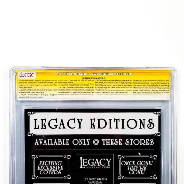 Secret Wars (2015) #1 CGC SS 9.8 NM/M Legacy Editions Variant Back Label