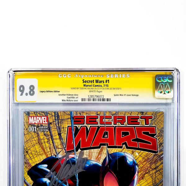 Secret Wars (2015) #1 CGC SS 9.8 NM/M Legacy Editions Variant Front Label