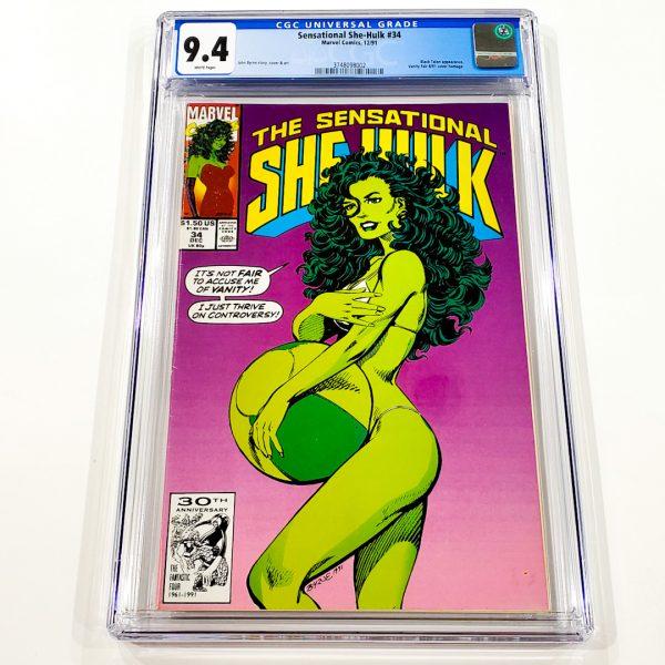 Sensational She-Hulk #34 CGC 9.4 NM Front