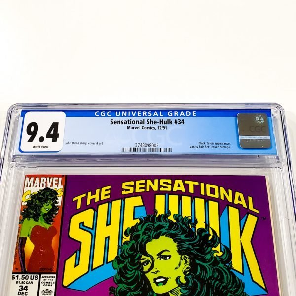 Sensational She-Hulk #34 CGC 9.4 NM Front Label