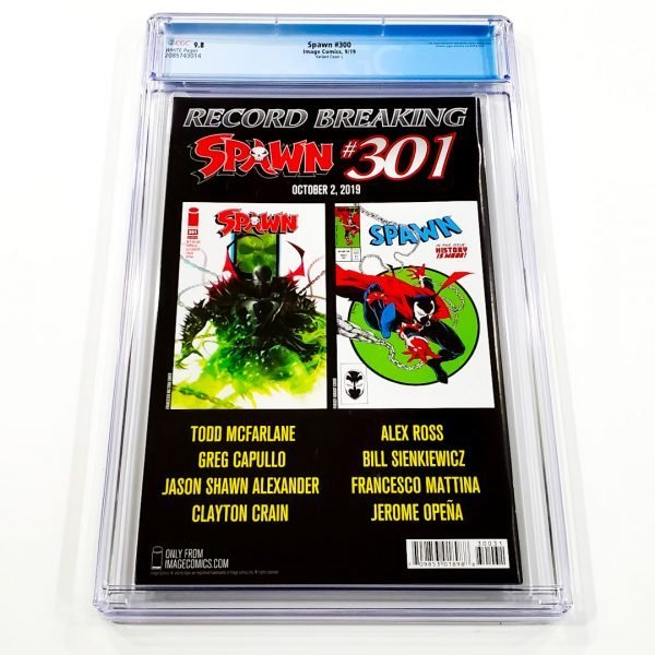 Spawn #300 CGC 9.8 NM/M Variant Cover L Back