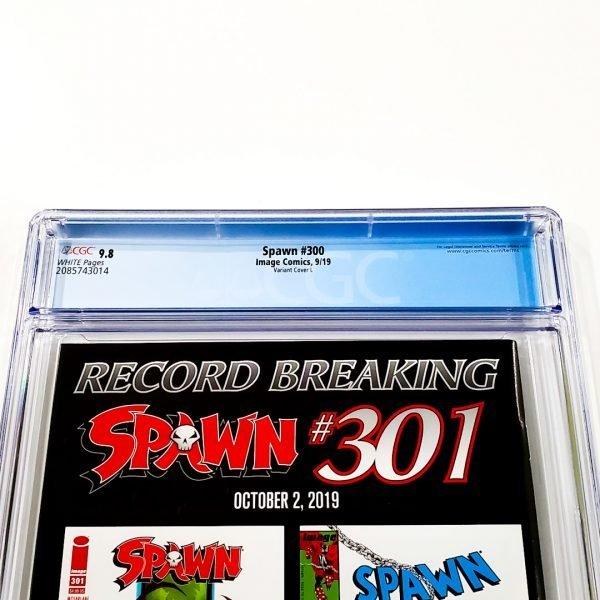 Spawn #300 CGC 9.8 NM/M Variant Cover L Back Label