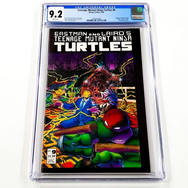 Teenage Mutant Ninja Turtles #9 CGC 9.2 NM- Front