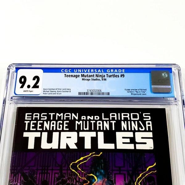 Teenage Mutant Ninja Turtles #9 CGC 9.2 NM- Front Label