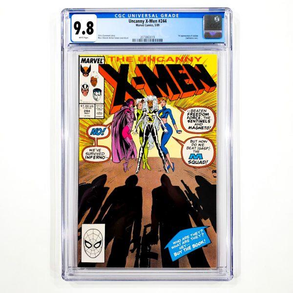 Uncanny X-Men #244 CGC 9.8 NM/M Front
