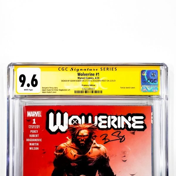 Wolverine (2020) #1 CGC SS 9.6 NM+ Premiere Edition Front Label