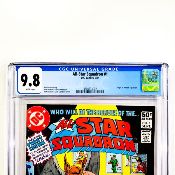 All-Star Squadron #1 CGC 9.8 NM/M Front Label