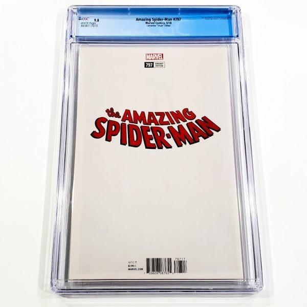 Amazing Spider-Man #797 CGC 9.8 NM/M Convention Virgin Variant Back