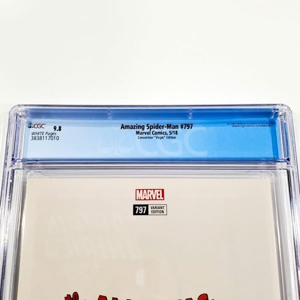 Amazing Spider-Man #797 CGC 9.8 NM/M Convention Virgin Variant Back Label