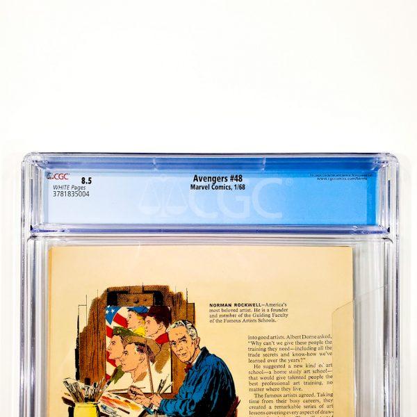 Avengers #48 CGC 8.5 VF+ Back Label