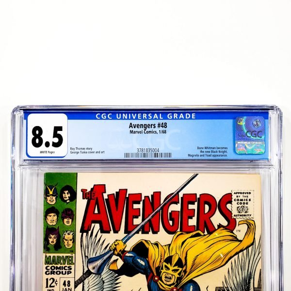 Avengers #48 CGC 8.5 VF+ Front Label