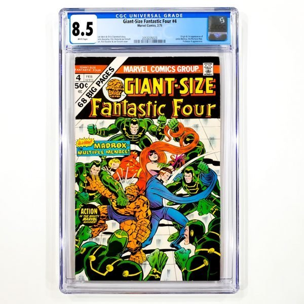 Giant-Size Fantastic Four #4 CGC 8.5 VF+ Front