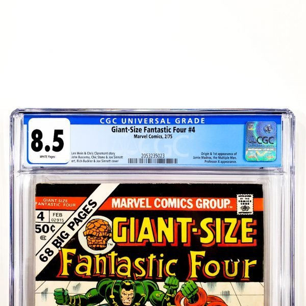 Giant-Size Fantastic Four #4 CGC 8.5 VF+ Front Label