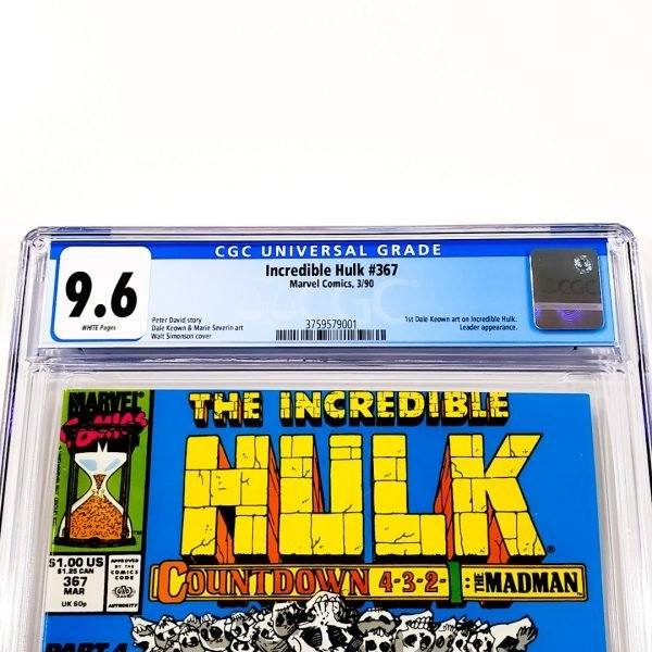 Incredible Hulk #367 CGC 9.6 NM+ Front Label
