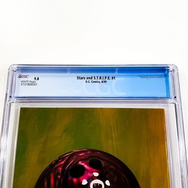 Stars and S.T.R.I.P.E. #1 CGC 9.8 NM/M Back Label