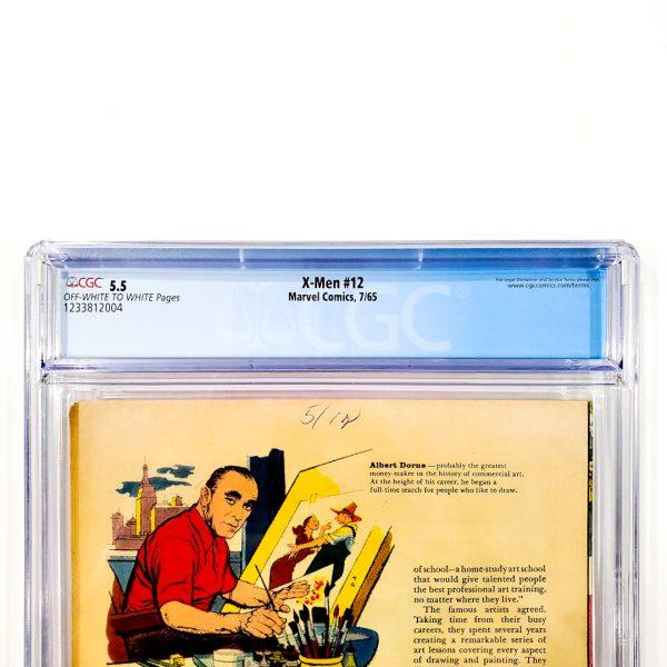X-Men #12 CGC 5.5 FN- Back Label