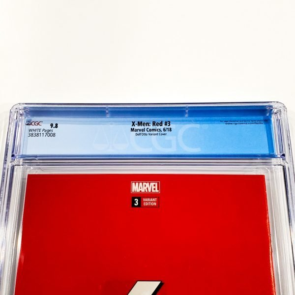 X-Men: Red #3 CGC 9.8 NM/M Dell'Otto Variant Back Label
