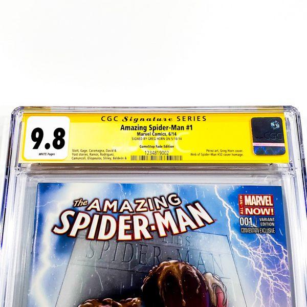 Amazing Spider-Man (2014) #1 CGC SS 9.8 NM/M GameStop Fade Variant Front Label