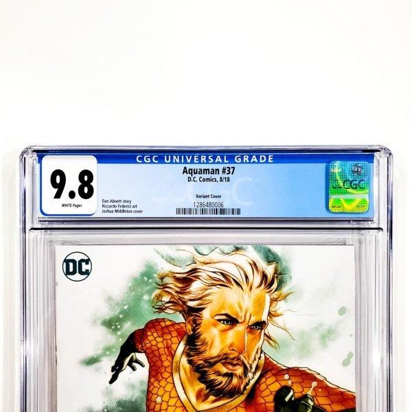 Aquaman (2016) #37 CGC 9.8 NM/M Middleton Variant Label