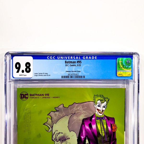Batman (2016) #95 CGC 9.8 NM/M Jimenez Design Variant Front Label