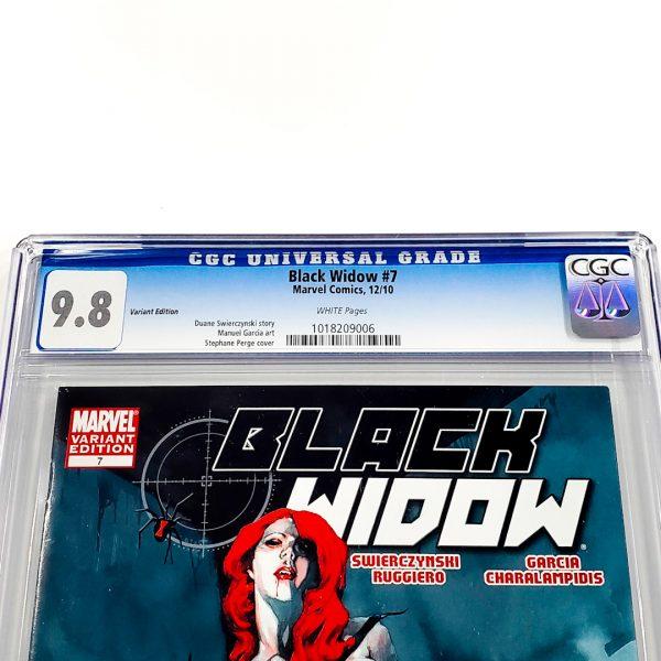 Black Widow (2010) #7 CGC 9.8 NM/M Variant Front Label