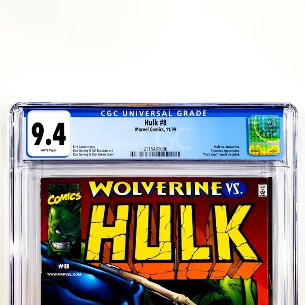 Hulk (1999) #8 CGC 9.4 NM Front Label