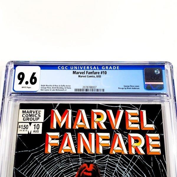 Marvel Fanfare #10 CGC 9.6 NM+ Front Label