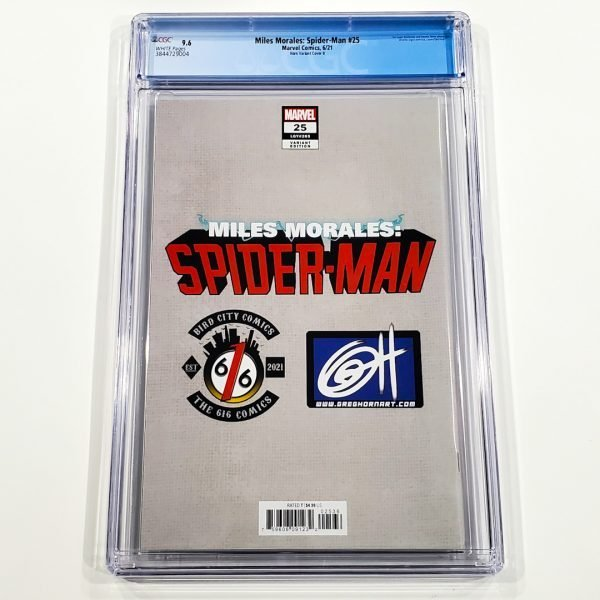 Miles Morales: Spider-Man #25 CGC 9.6 NM+ Horn Variant Cover B Back
