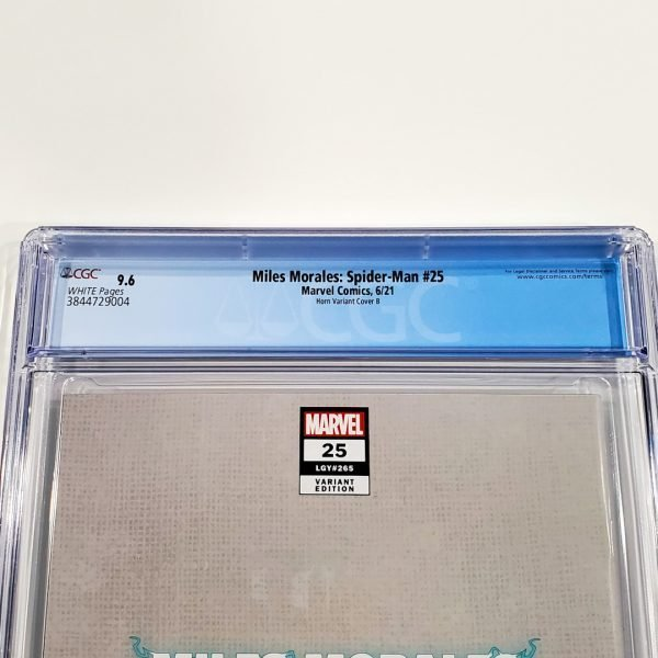 Miles Morales: Spider-Man #25 CGC 9.6 NM+ Horn Variant Cover B Back Label