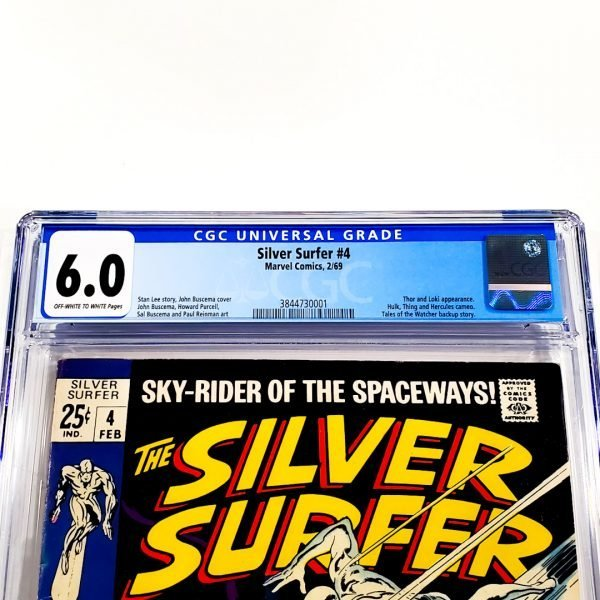 Silver Surfer #4 CGC 6.0 FN Front Label