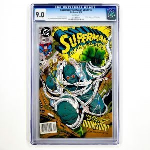 Superman: The Man of Steel #18 CGC 9.0 VF/NM Newsstand Front